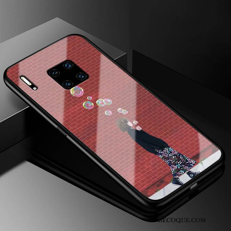 Coque Huawei Mate 30 Rs Protection Rougede Téléphone, Étui Huawei Mate 30 Rs Verre