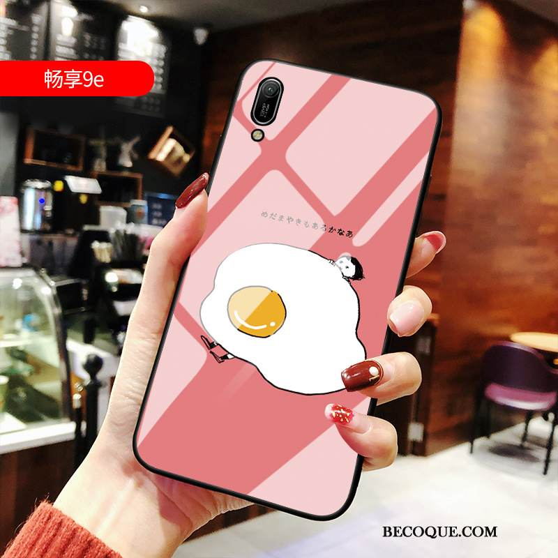 coque huawei y6 2019 silicone rouge