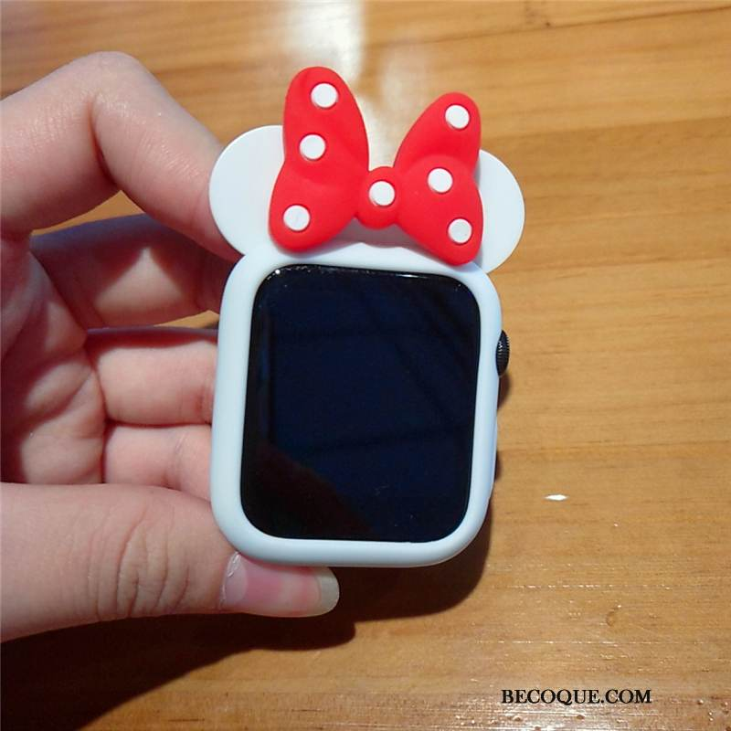 Coque Apple Watch Series 1 Dessin Animé Blanc Mignonne, Étui Apple Watch Series 1 Silicone Incassable