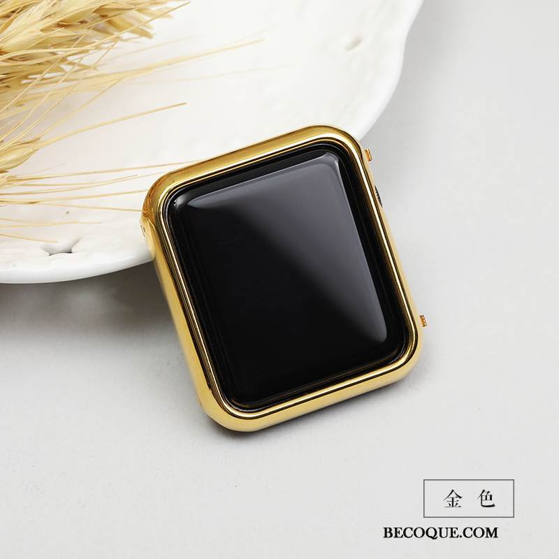 Coque Apple Watch Series 1 Métal Tendance Or, Étui Apple Watch Series 1 Protection Modèle Border