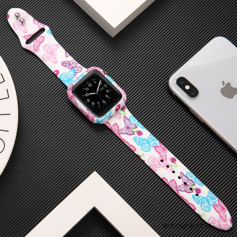 Coque Apple Watch Series 1 Protection Imprimé Rose, Étui Apple Watch Series 1 Sacs Tendance