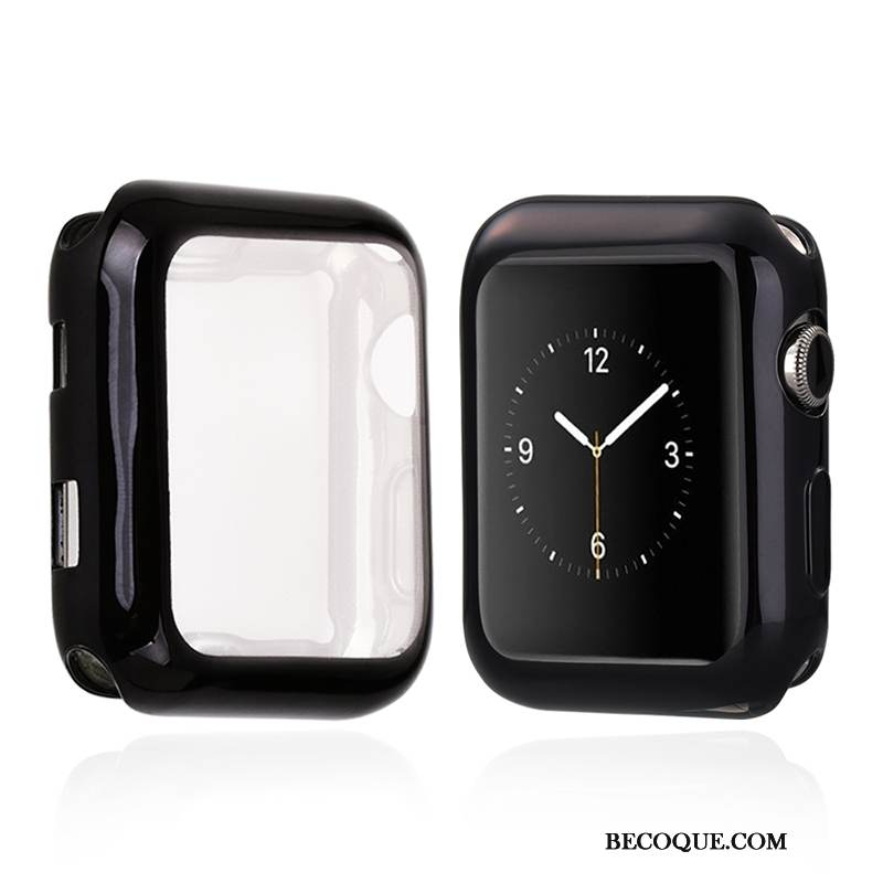 Coque Apple Watch Series 1 Protection Mince Transparent, Étui Apple Watch Series 1 Fluide Doux Noir