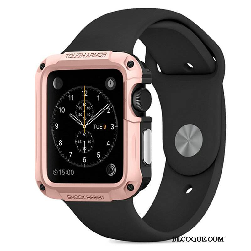 Coque Apple Watch Series 1 Protection Outdoor Sport, Étui Apple Watch Series 1 Or Rose