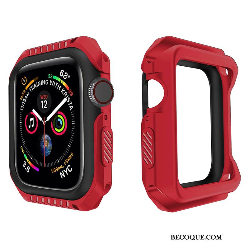 Coque Apple Watch Series 1 Protection Rouge Incassable, Étui Apple Watch Series 1 Fluide Doux
