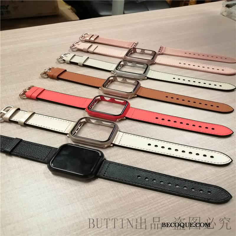 Coque Apple Watch Series 1 Protection Une Agrafe Noir, Étui Apple Watch Series 1 Vintage Couleur