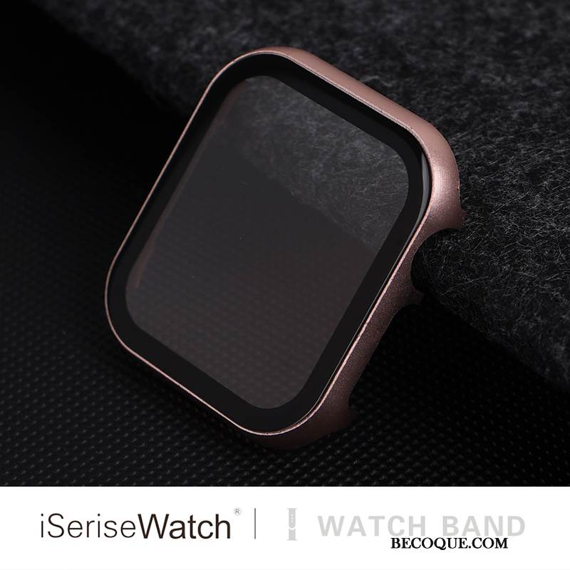Coque Apple Watch Series 1 Sacs Membrane Border, Étui Apple Watch Series 1 Protection Tempérer Rose