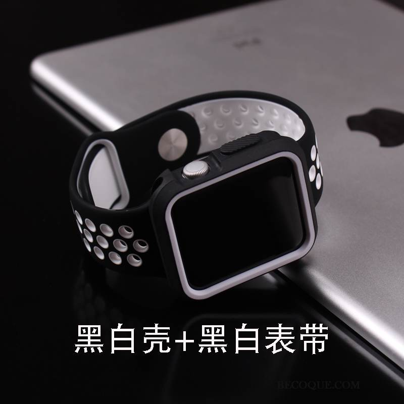 Coque Apple Watch Series 1 Sacs Noir Tendance, Étui Apple Watch Series 1 Protection Tempérer Incassable