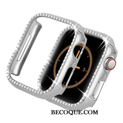 Coque Apple Watch Series 1 Sacs Très Mince Argent, Étui Apple Watch Series 1 Incruster Strass Accessoires Incassable