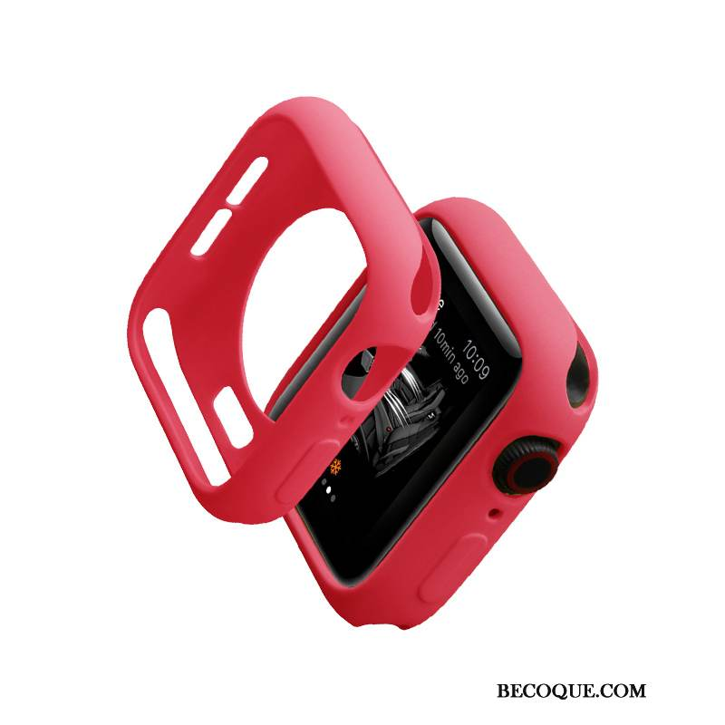 Coque Apple Watch Series 1 Silicone Très Mince Marque De Tendance, Étui Apple Watch Series 1 Protection Rouge