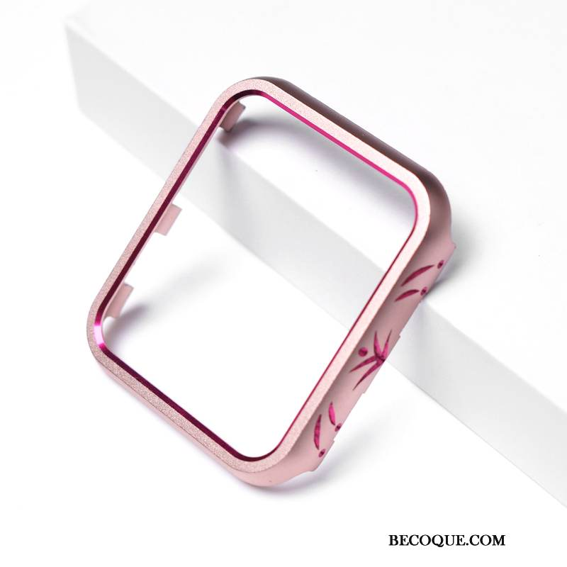 Coque Apple Watch Series 4 Protection Rose Incassable, Étui Apple Watch Series 4 Incruster Strass