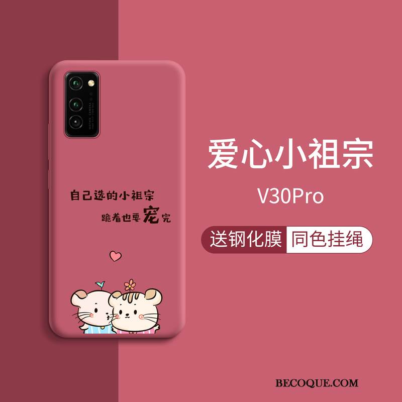 Coque Honor View30 Pro Mode Rouge Personnalité, Étui Honor View30 Pro Protection Tendance Charmant