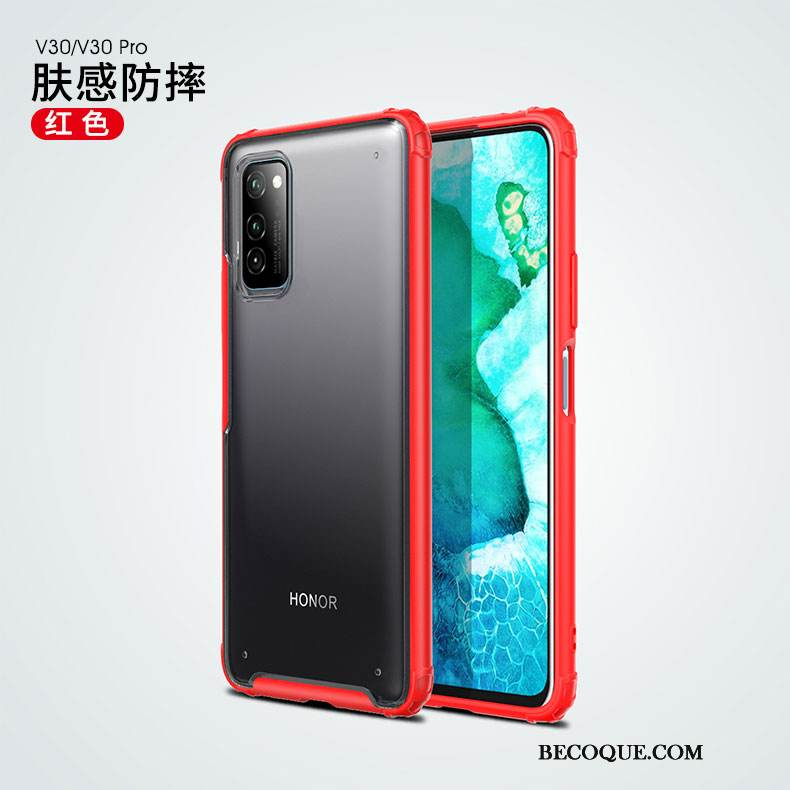 Coque Honor View30 Pro Silicone Simple Rouge, Étui Honor View30 Pro Sacs Transparent Ballon
