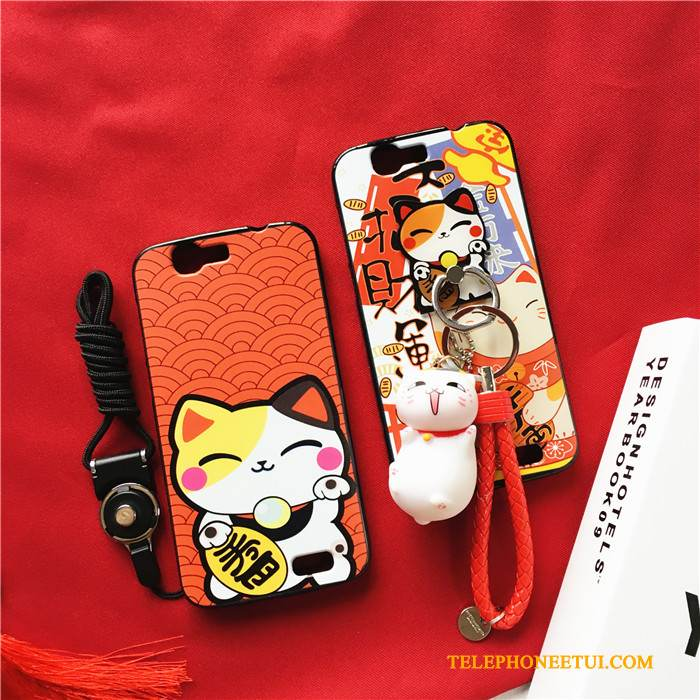 Coque Huawei Ascend G7 Fluide Doux Tendance Chat, Étui Huawei Ascend G7 Protection Ornements Suspendus Richesse