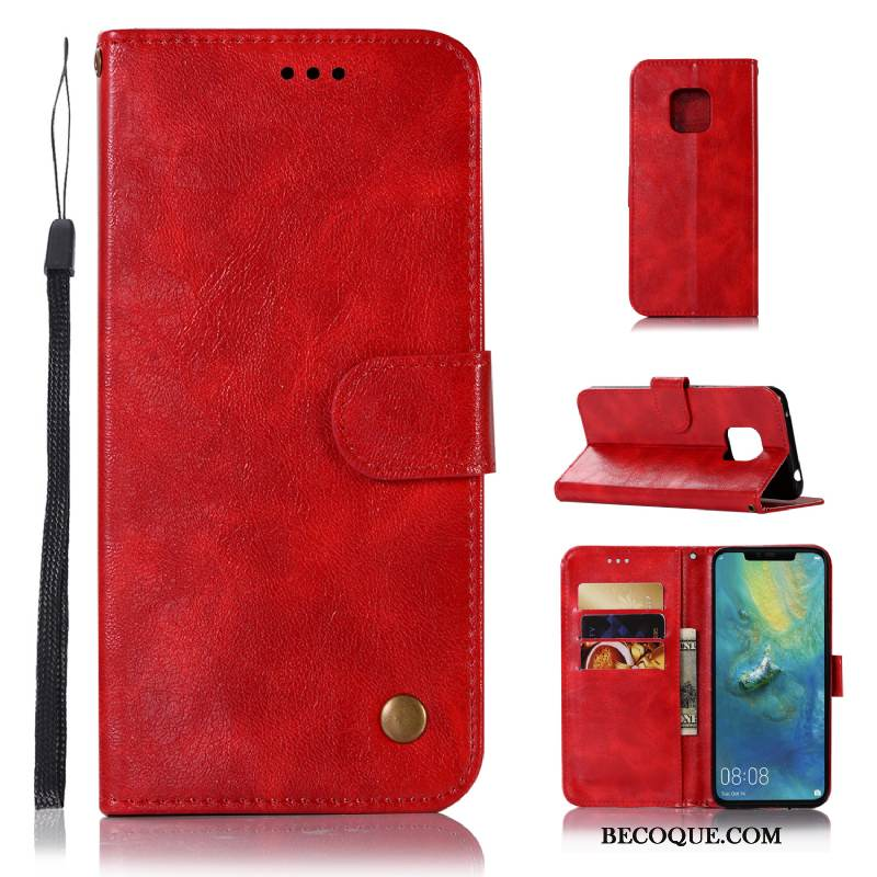 coque huawei mate 20 pro rouge