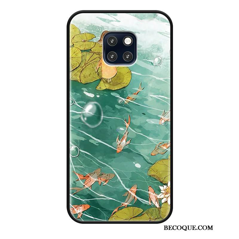 Coque Huawei Mate 20 Rs Protection Personnalité Style Chinois, Étui Huawei Mate 20 Rs Simple Vert