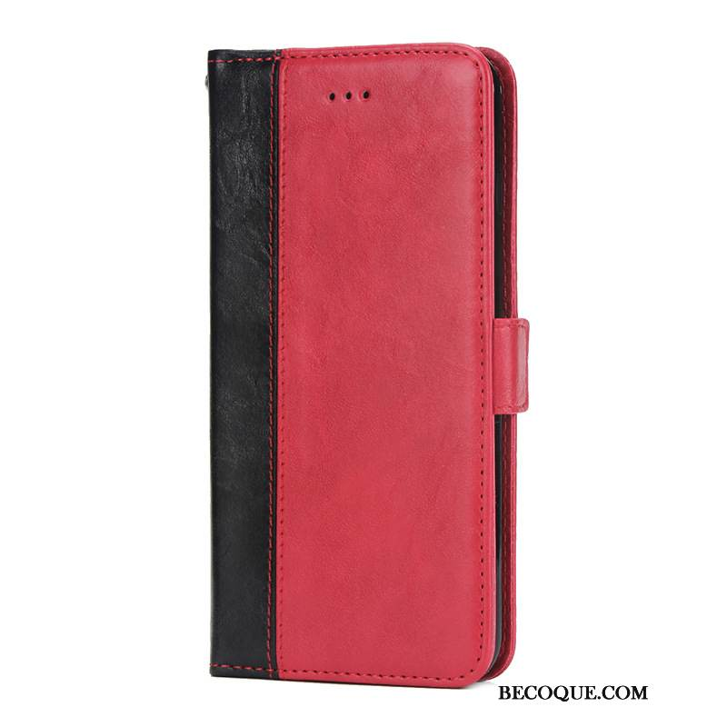 Coque Huawei Mate 30 Pro Support Simple Rouge, Étui Huawei Mate 30 Pro Protection Modèle Fleurie Carte