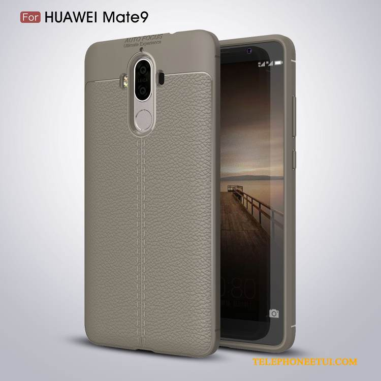 Coque Huawei Mate 9 Protection Mincede Téléphone, Étui Huawei Mate 9 Silicone Simple Gris