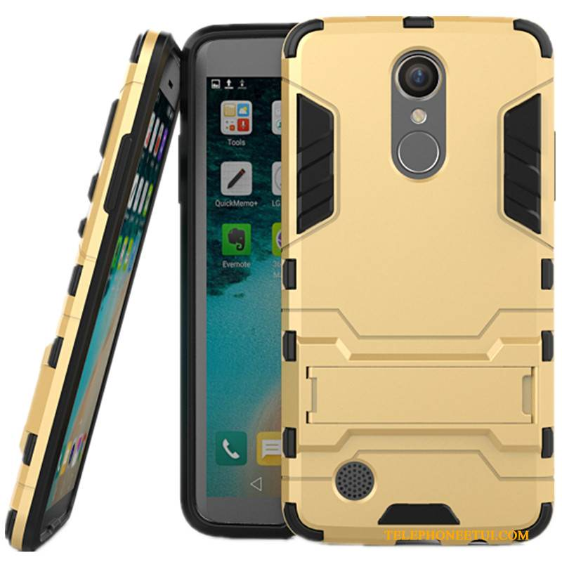Coque Lg K8 2017 Support Difficile Incassable, Étui Lg K8 2017 Protection De Téléphone Or