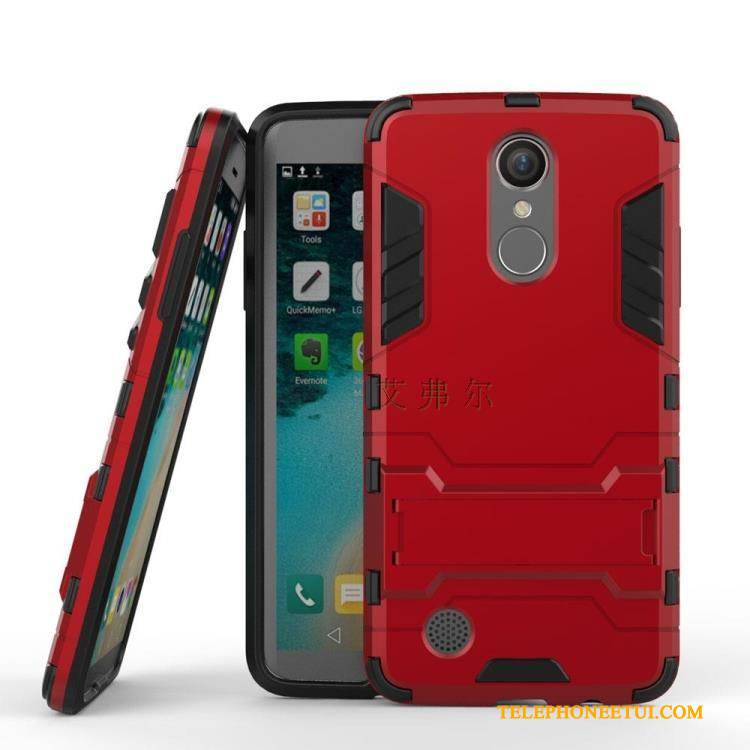 Coque Lg K8 2017 Support Incassable Rouge, Étui Lg K8 2017 Protection