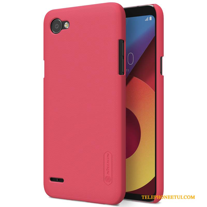 Coque Lg Q6 Protection Rouge Difficile, Étui Lg Q6 Délavé En Daim Or