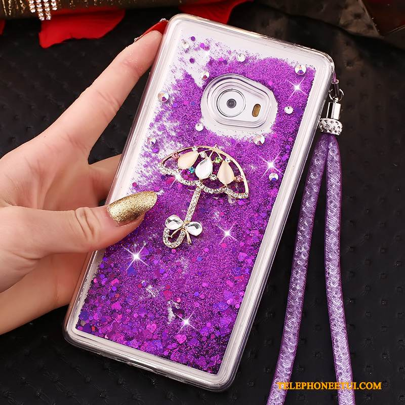 Coque Mi Note 2 Silicone Violet Petit, Étui Mi Note 2 Protection Incassable Quicksand