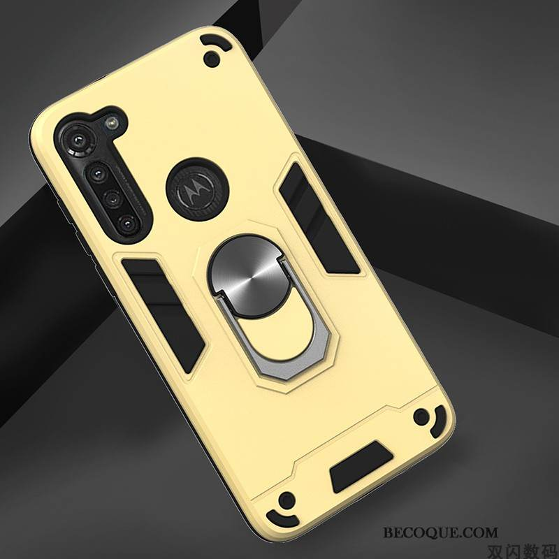 Coque Moto G8 Power Protection Incassable Tendance, Étui Moto G8 Power Jaune Simple