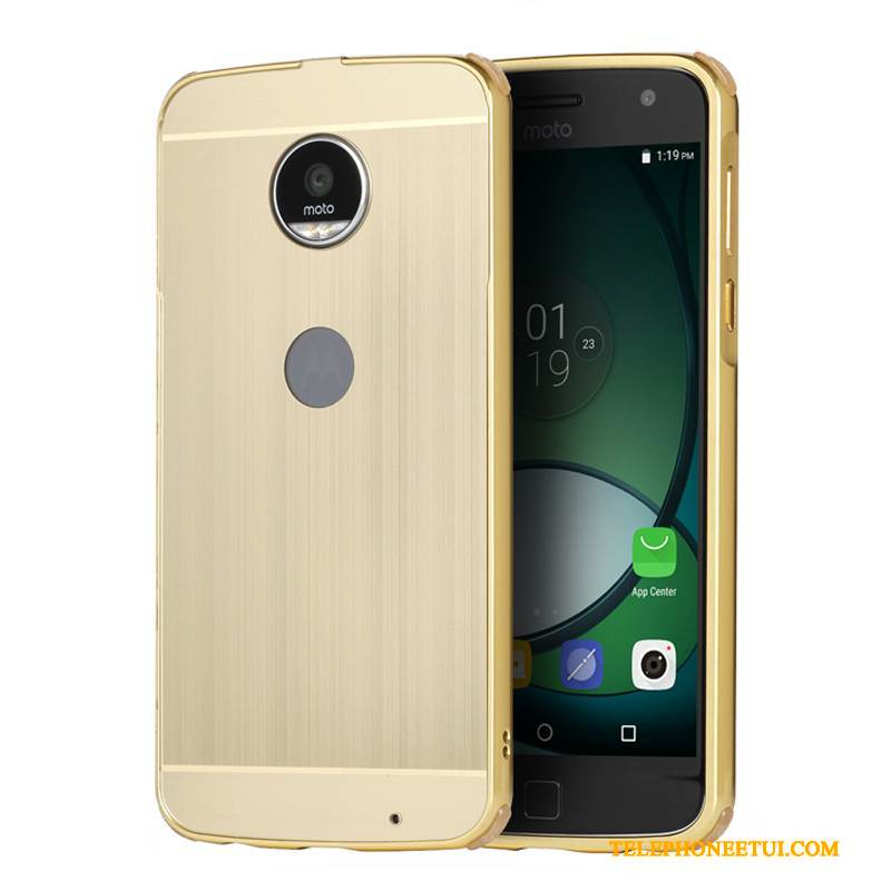 Coque Moto Z Play Métal De Téléphone Border, Étui Moto Z Play Protection Or Incassable