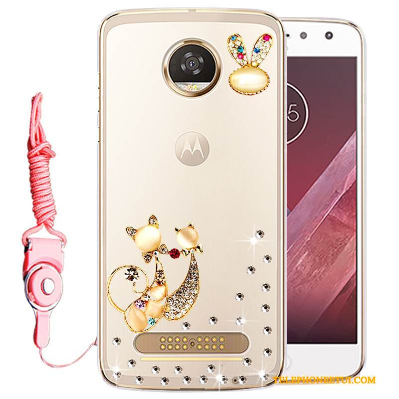 Coque Moto Z Play Protection Incassablede Téléphone, Étui Moto Z Play Strass Or