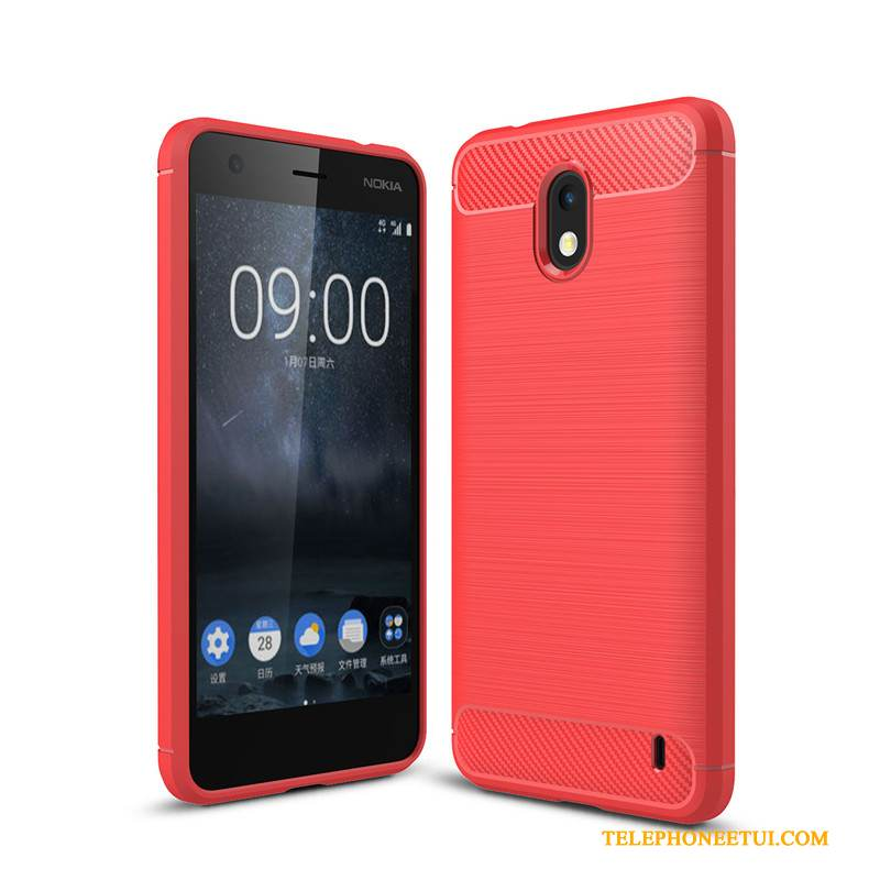 Coque Nokia 2 Protection Incassable Rouge, Étui Nokia 2 Sacs Fibre