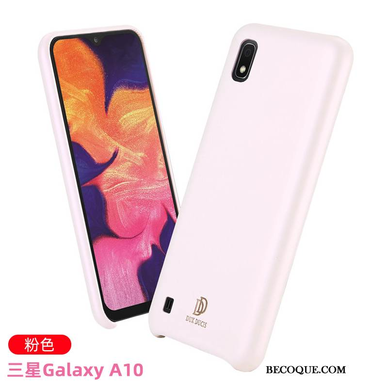 Coque Samsung Galaxy A10 Cuir Rose Nouveau, Étui Samsung Galaxy A10 Sacs Incassable Business
