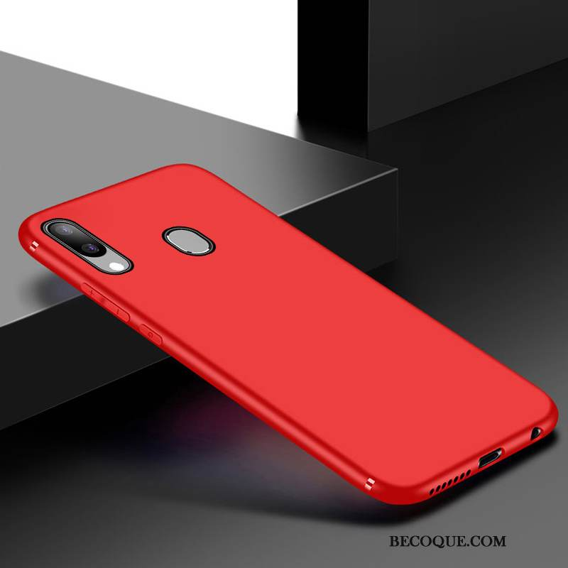 coque silicone rouge samsung a70