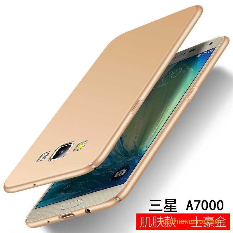 Coque Samsung Galaxy A7 2015 Sacs Or Difficile, Étui Samsung Galaxy A7 2015 Protection Incassable Délavé En Daim
