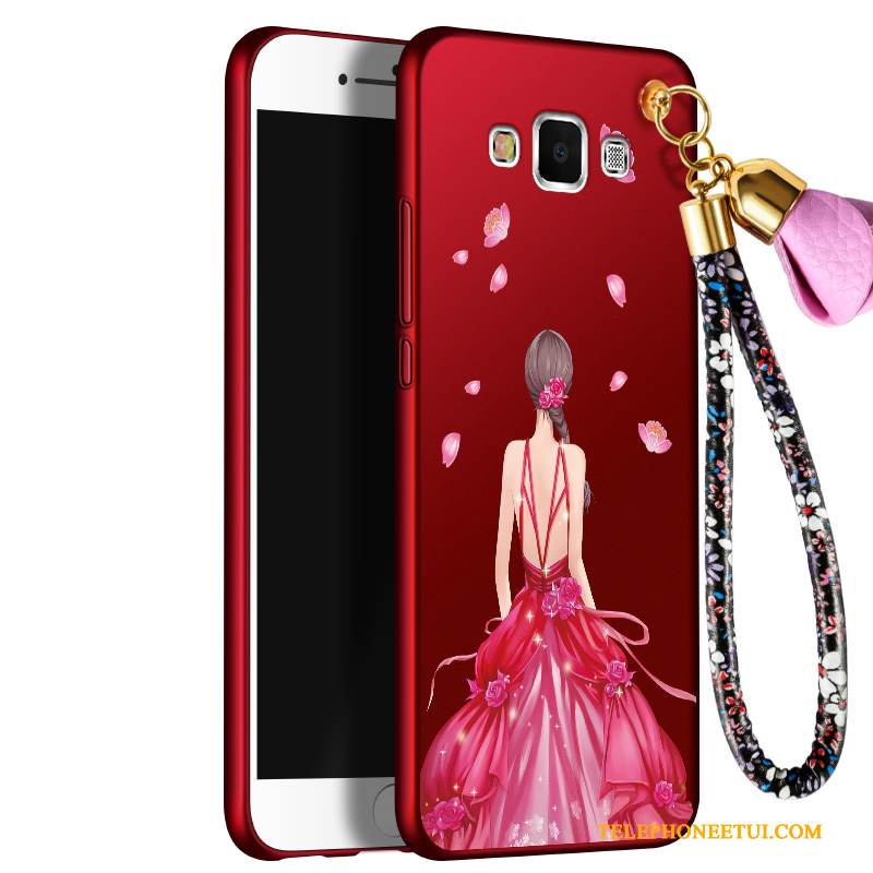 Coque Samsung Galaxy J7 2016 Silicone Tendance Grand, Étui Samsung Galaxy J7 2016 Protection Rouge Incassable