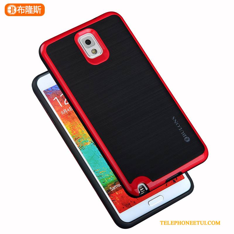 Coque Samsung Galaxy Note 3 Silicone Incassable Simple, Étui Samsung Galaxy Note 3 Protection Couvercle Arrière Border