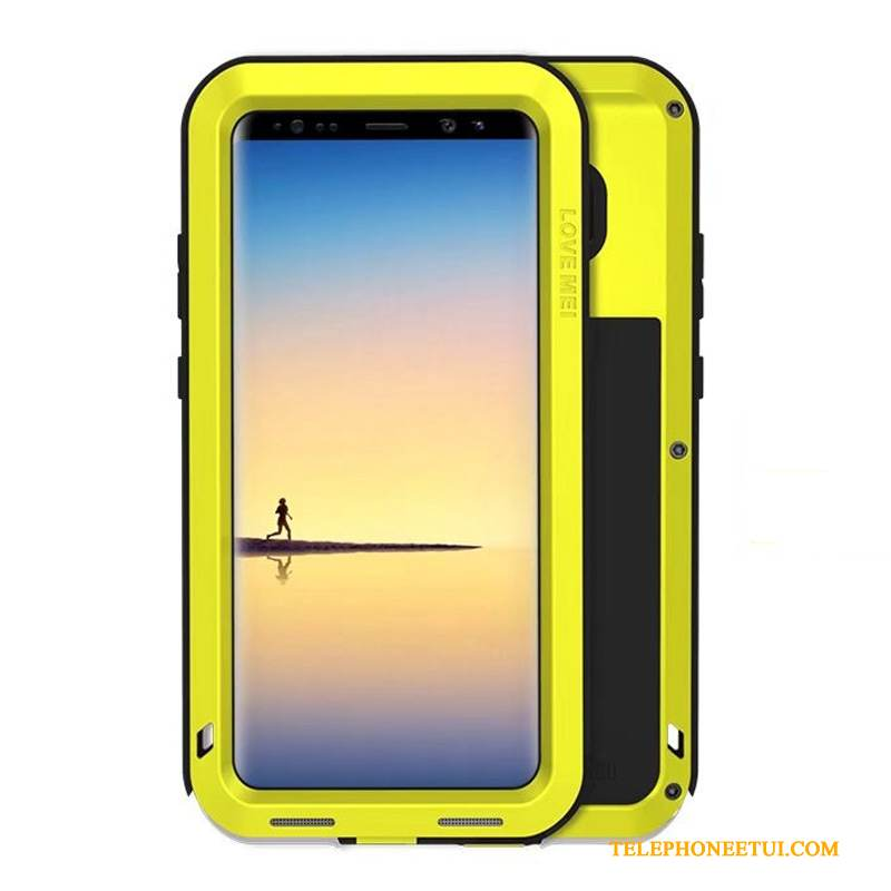 Coque Samsung Galaxy Note 8 Sacs Jaune Border, Étui Samsung Galaxy Note 8 Protection Incassable Trois Défenses