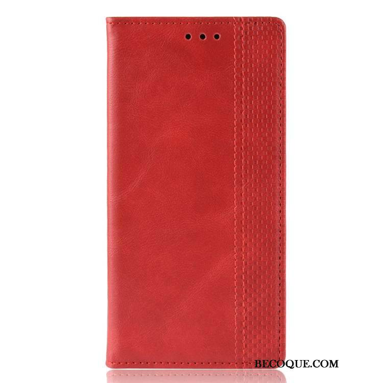 Coque Samsung Galaxy S20 Ultra Cuir Rouge Portefeuilles, Étui Samsung Galaxy S20 Ultra Fluide Doux