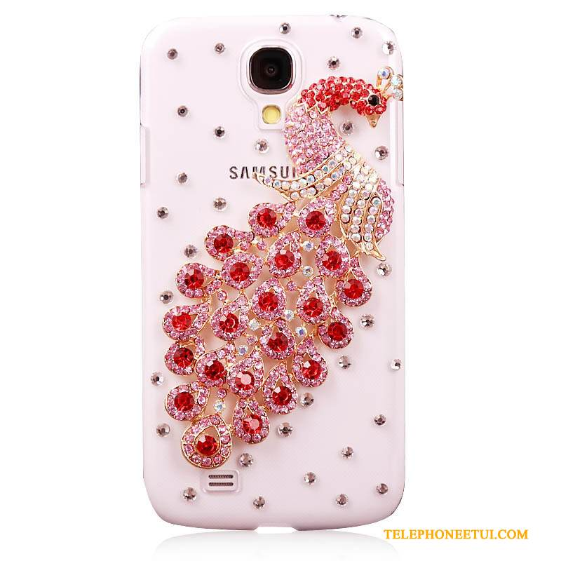 Coque Samsung Galaxy S4 Strass Nouveau Tendance, Étui Samsung Galaxy S4 Protection Rouge