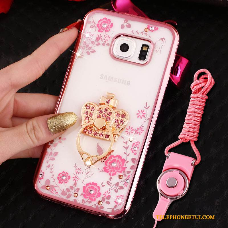 coque samsung galaxy s6 rose
