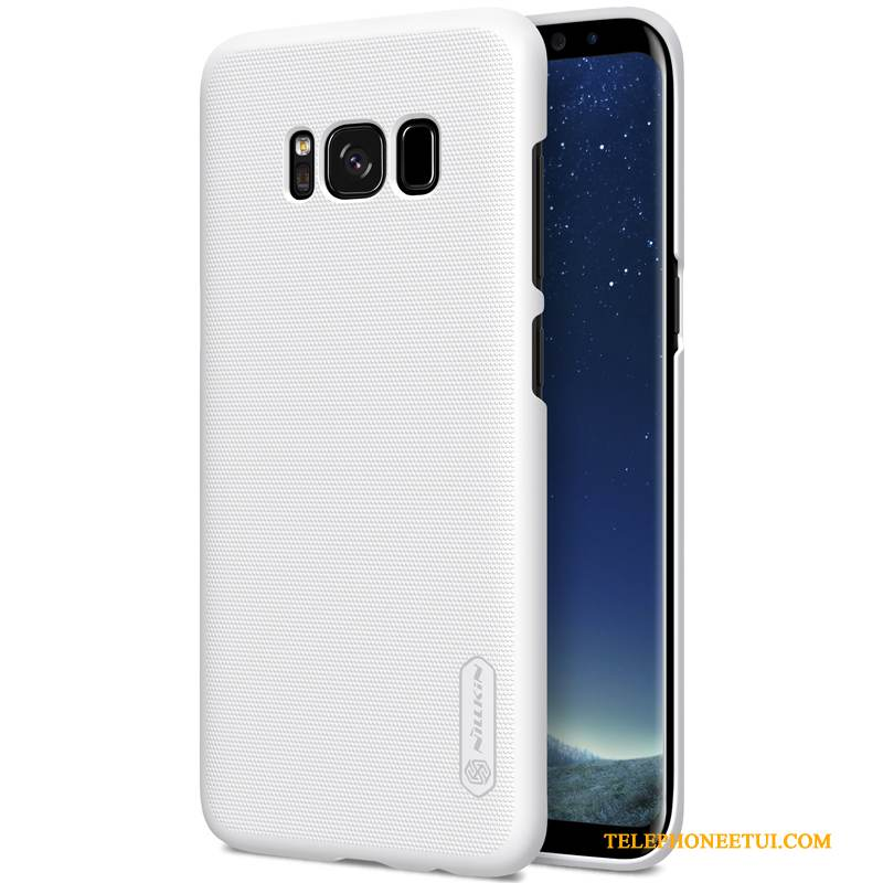 Coque Samsung Galaxy S8 Protection Difficile Or, Étui Samsung Galaxy S8 Blanc Délavé En Daim