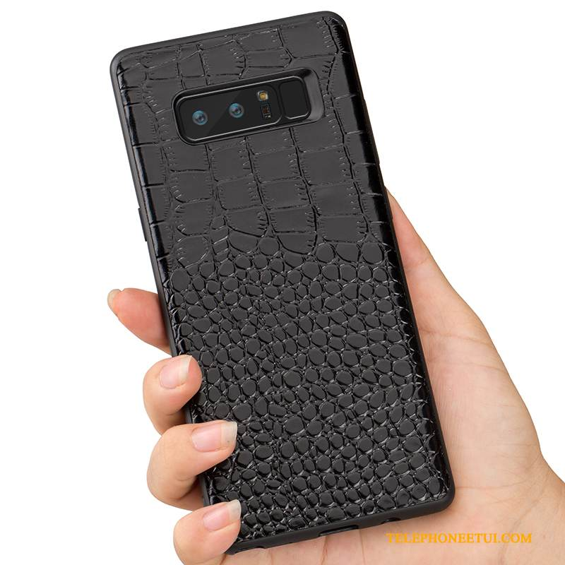 Coque Samsung Galaxy S9 Protection Très Mince Noir, Étui Samsung Galaxy S9 Cuir Incassable Business