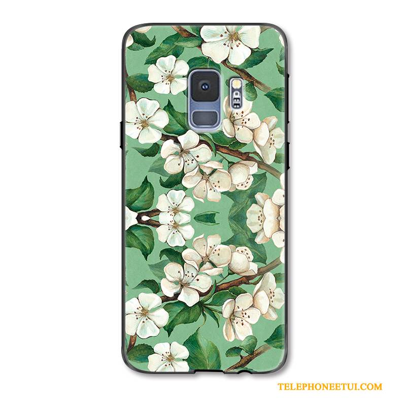 Coque Samsung Galaxy S9+ Silicone Art Petit, Étui Samsung Galaxy S9+ Sacs Ornements Suspendus Simple