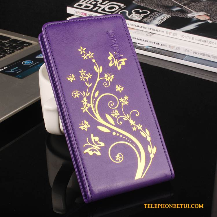 Coque Sony Xperia X Compact Cuir Incassable Modèle Fleurie, Étui Sony Xperia X Compact Protection Violet Or