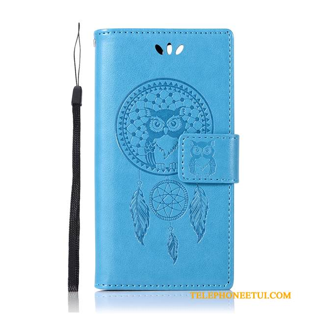 Coque Sony Xperia X Compact Portefeuille Bleude Téléphone, Étui Sony Xperia X Compact Protection