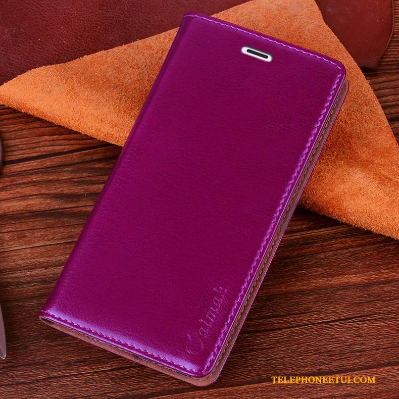 Coque Sony Xperia Xa Ultra Housse Simplede Téléphone, Étui Sony Xperia Xa Ultra Cuir Violet Foncé