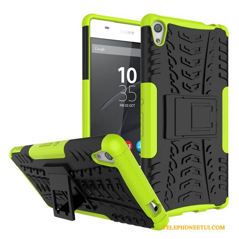 Coque Sony Xperia Xa Ultra Support Vert Tendance, Étui Sony Xperia Xa Ultra Protection De Téléphone