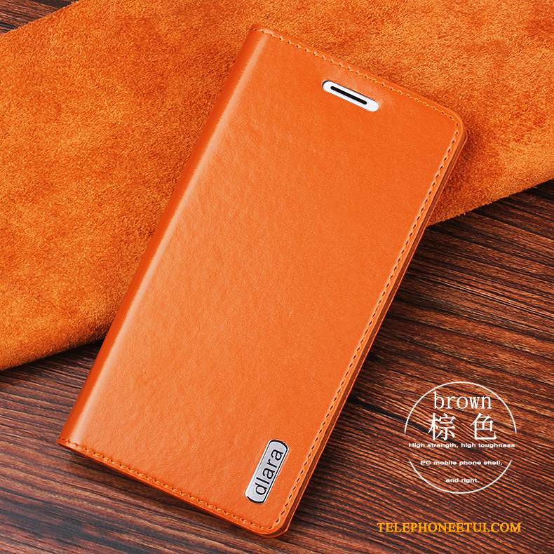 Coque Sony Xperia Z3+ Cuir Durable Orange, Étui Sony Xperia Z3+ Housse