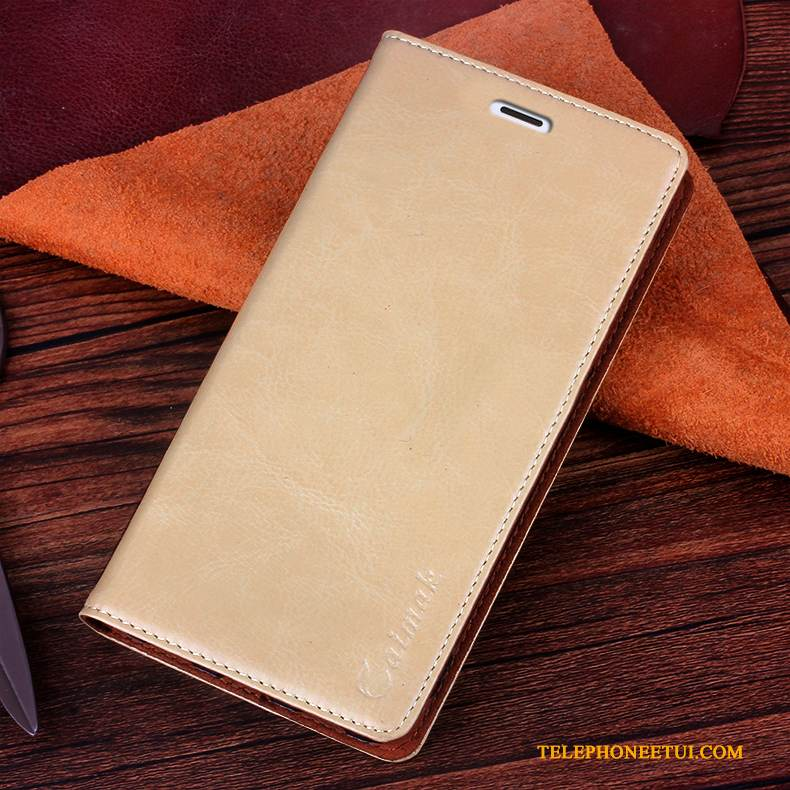 Coque Sony Xperia Z3+ Cuir Or, Étui Sony Xperia Z3+ Protection