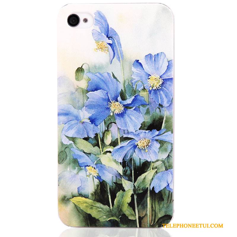 Coque iPhone 4/4s Protection Difficile Bleu, Étui iPhone 4/4s Peinture