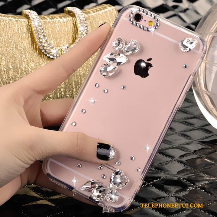 Coque iPhone 4/4s Strass Charmant Argent, Étui iPhone 4/4s Tendance Cristal