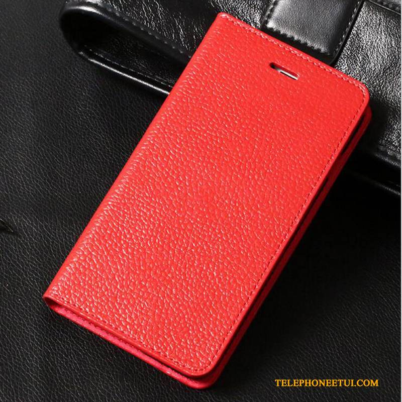 Coque iPhone 6/6s Cuir Rouge Business, Étui iPhone 6/6s Protection Incassablede Téléphone